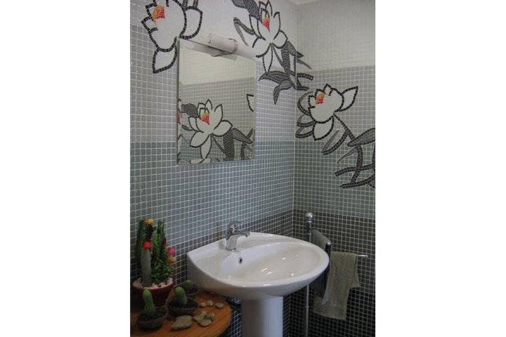Bagno fior di loto mosaico