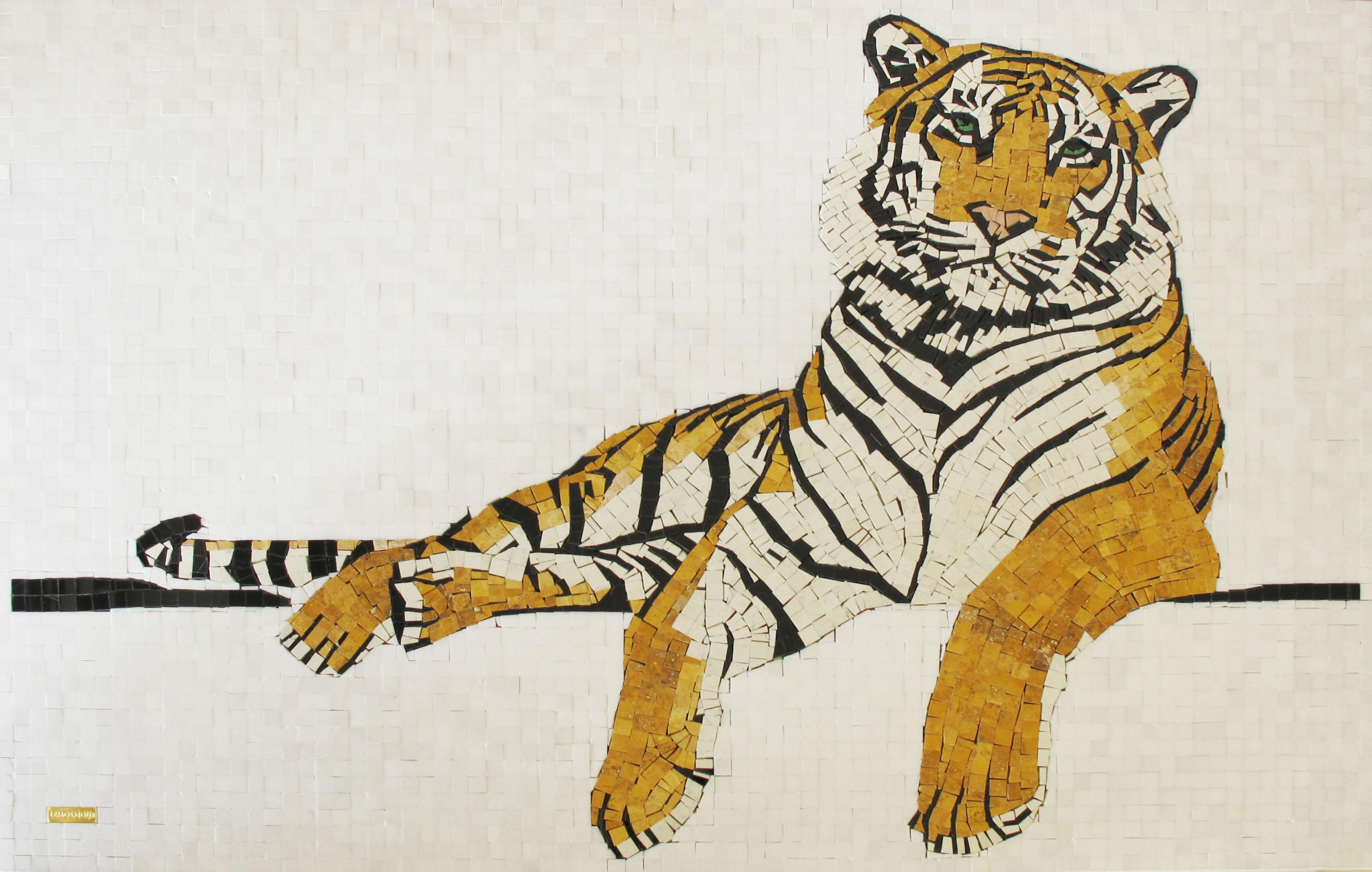 tigre mosaico mosaic tiger