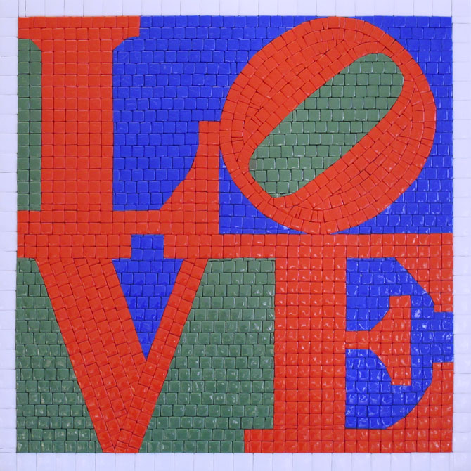 quadro-mosaico-love-robert-indiana-red