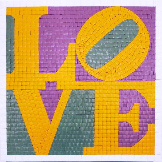 quadro-mosaico-love-robert-indiana